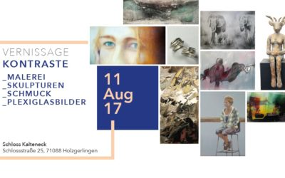 Vernissage 11.August  Schloss Kalteneck Holzgerlingen