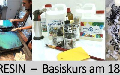 Resin Basiskurs in München mit Andrea Hibler und Stefanie Etter 18.-19.8.- ausgebucht