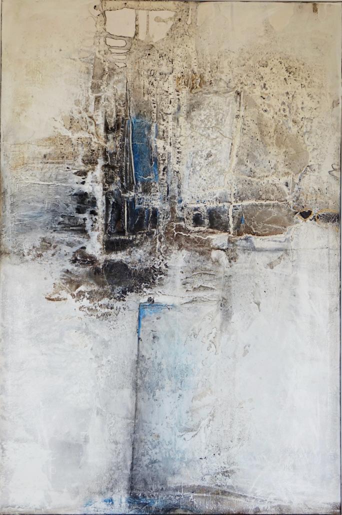 Abstrakt struktur bilder mit Acrylmalerei mit